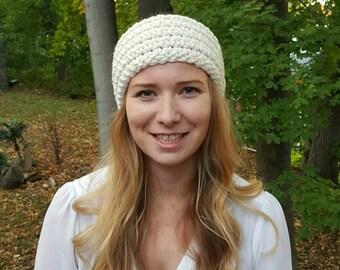 Knit Head Warmer - Cream