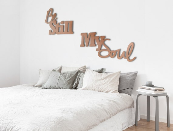 Metal Wall Decor For Bedroom : Be still my soul metal wall art quote bedroom