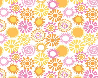 One Yard Sun-sational - Sun Kissed in Pink - Cotton Quilt Fabric - designed by Maude Asbury for Blend Fabrics - 101.117.04.1 (W3347)