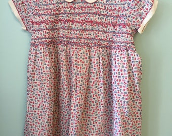 1960s Best & Co. Girl's Novelty Print Cotton Dress with Original Box