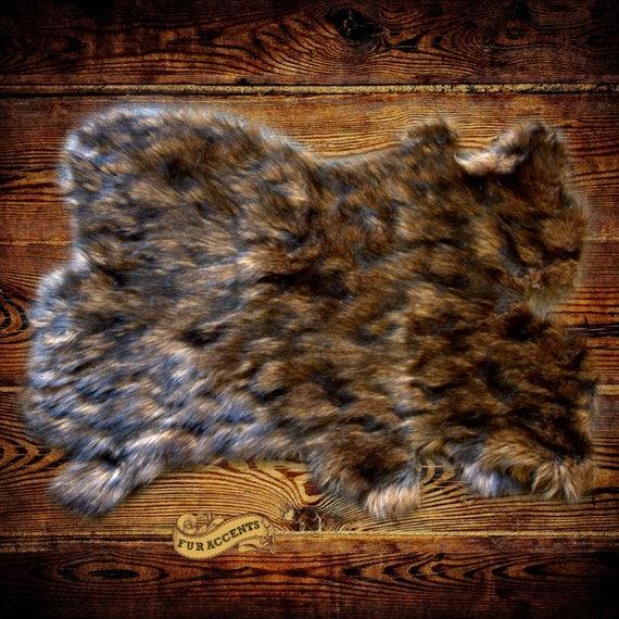 NEW Faux Fur Pelt Rug Soft Shaggy Area Carpet Accent Throw