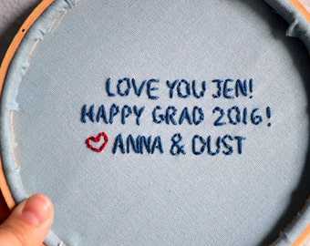 ADD ON: Message on back of hoop