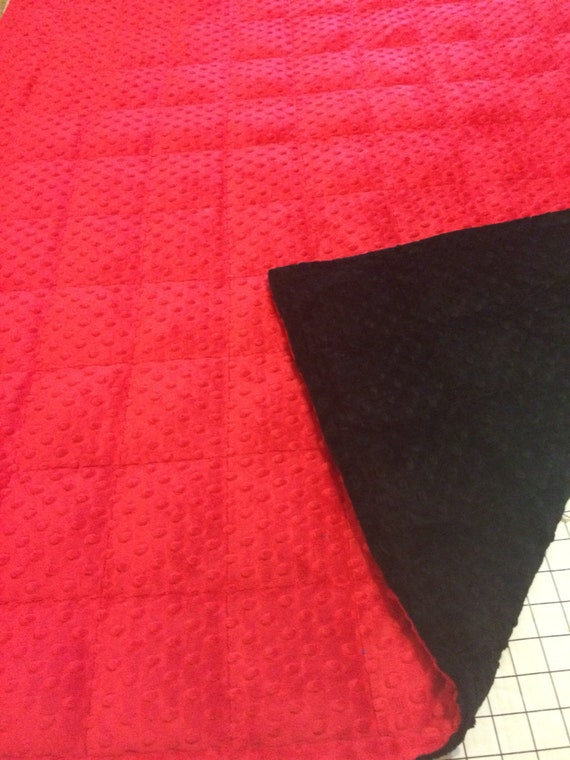 Back Red Minky Weighted Blanket 35x40 Amp 40x60