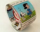 Comic Book Chunky Resin Bangle Bracelet featuring Peanuts