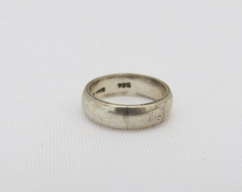 Vintage Sterling Silver Band Ring Size 4