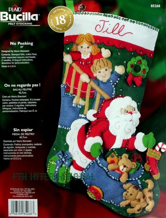 Bucilla Christmas Stocking Kits.Santa Claus Felt Applique Stocking Kits Page Three