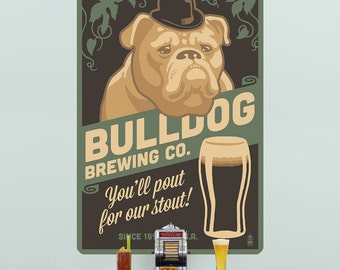 Bulldog Brewing Beer Dog Ad Wall Decal - #61000