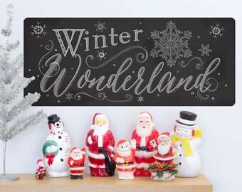 Winter Wonderland Chalk Look Wall Decal - #65615
