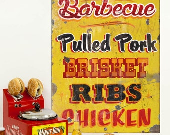 Genuine Pit Barbecue Food Wall Decal - #67023