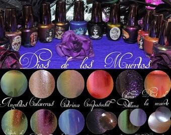 Dios de los Muertos Collection , 12 Nail polish ( 15 ML 1/2 oz each ) , 5 free, vegan, handmade