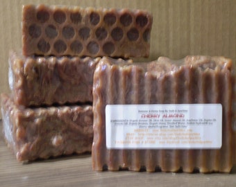 Cherry Almond - Beeswax & Honey Soap - Large 5-6oz. Each