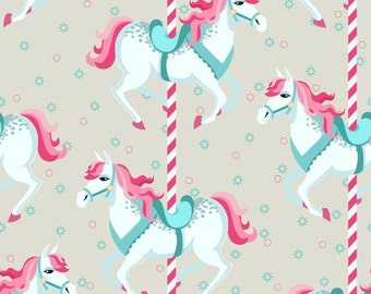 Carousel Cotton Lycra Knit Fabric Made in USA