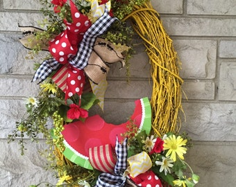Summer wreath,Watermelon wreath