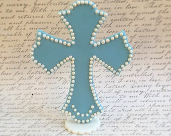 Christening Baptism fondant cross