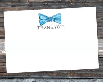 Baby Boy Bowtie Invitation Matching Thanks You Cards