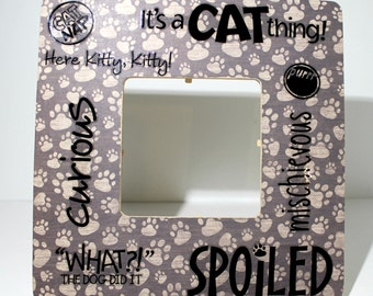 Cat Kitty Kitten Purr  Pet Picture frame