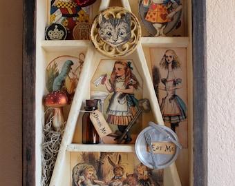 Alice's Wonderland - Found Object Assemblage
