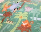 Jungle Book Fleece by the Yard.  Disney Jungle Book fabric.  Jungle Fabric Green.