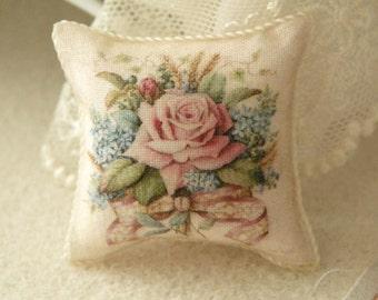dollhouse miniatures pillow