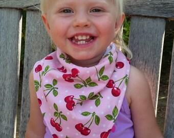 Bandana Bib, Baby Bib, Very Cherry