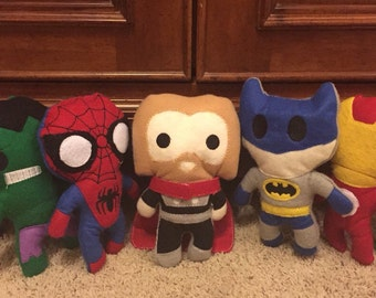 Choose 1 plushie. plushie. Stuffie. Super hero. Doll.