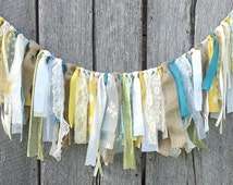 Fabric Garland Backdrop, Eclectic Wedding Banner, Birthday Party Decoration, Photo Prop, Graduation Decor, Party Tent Decor, Wall Hanging