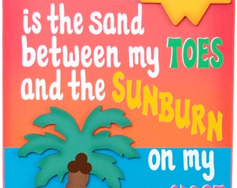 Outdoor Beach Sign -Painted