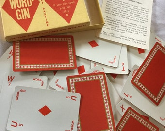 Word-Gin Rare Spelling Card Game Alphabet Cards