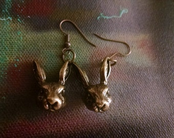 Rabbit Head Earrings