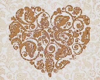 Precious  Heart Cross Stitch Pattern