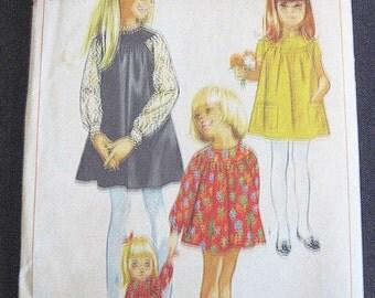 Vintage Simplicity 1970's Vintage Girls Dress Pattern #6538
