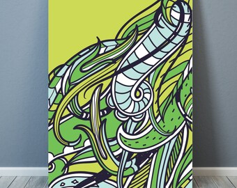 "Design ""Art Zentagle"" Poster A3 - 50x70 cm - 70x100 cm - digital print"