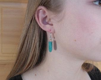 Amazonite Bullet Shaped Earrings