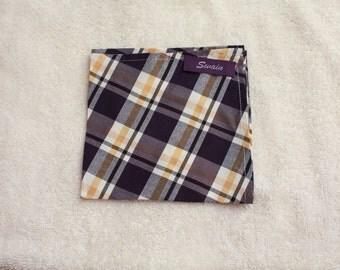 Plaid Pocket Sqaure
