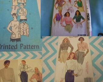 U Pick Sewing Patterns Vintage Blouses Tops