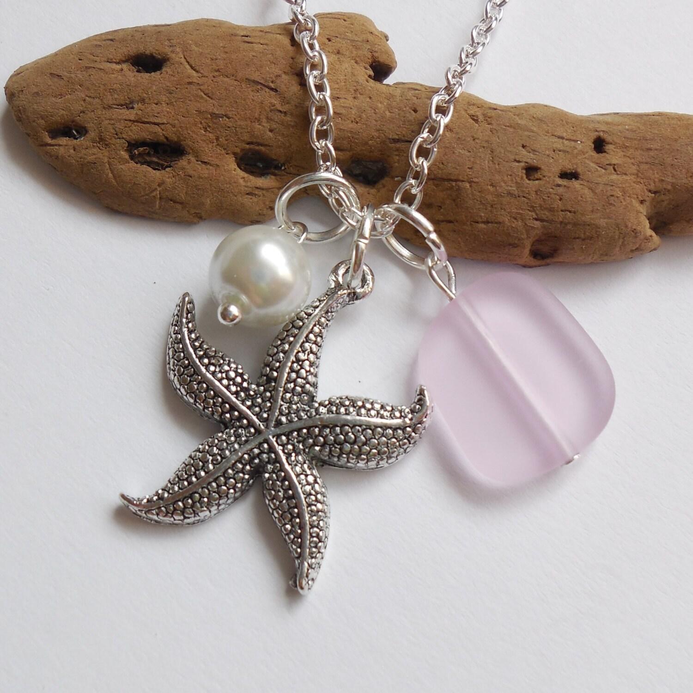 lumi re rose mer verre collier de charme perle collier. Black Bedroom Furniture Sets. Home Design Ideas