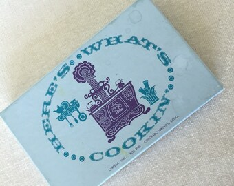 CLEARANCE SALE Box of Vintage Recipe note cards
