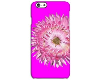 Everlasting Pink Flower iPhone Case