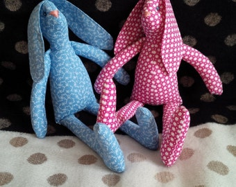 Bunny - blue and bunny - pink