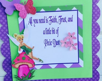 Tinkerbell Door Sign, Tinkerbell Welcome Door Sign, Pixie Hollow door sign, Tinkerbell door banner