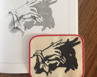 Hand shadow puppet patch: goat