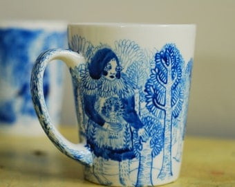 hand illustrated tea cup