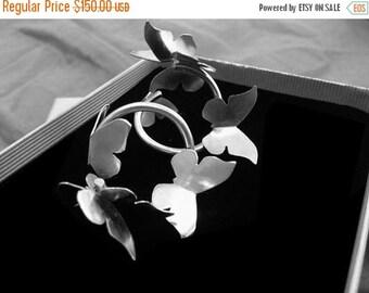 ON SALE Butterfly  Earrings - Silver Butterfly - Butterflies