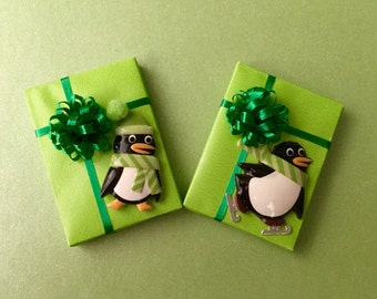 Happy Penguins  on Green