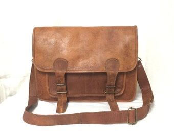 Leather Messenger bag, laptop bag,Brown, Leather ,Messenger Bag, Shoulder Bag, Leather Satchel, Leather Briefcase,Free shipping in the US