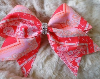 Cheer Bow: Pink and Peach