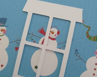 Four-Pane Window Diecuts for Christmas Scrapbooking, Cardmaking & Other Paper Crafts, etc