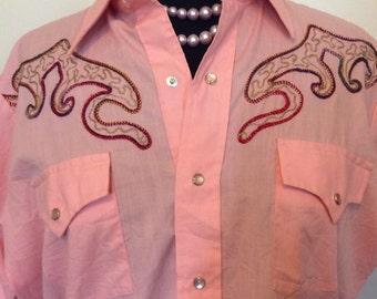 Vintage Western Shirt - Med