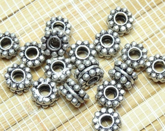 Bali 8mm Antique Silver Metal Beads