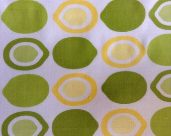 One Half Yard of Fabric Material  -  Lemons and Limes